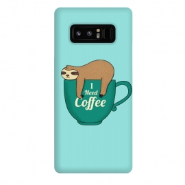 Galaxy Note 8  I need Coffee green by Coffee Man