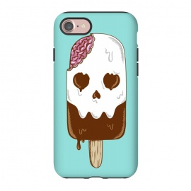 iPhone 8/7  Skull Ice Cream by Coffee Man (skull, summer,vacation,spring break,brain,melted,beach,ice cream,fun,funny)