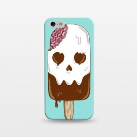 iPhone 5/5E/5s  Skull Ice Cream by Coffee Man (skull, summer,vacation,spring break,brain,melted,beach,ice cream,fun,funny)