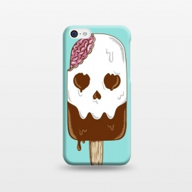 iPhone 5C  Skull Ice Cream by Coffee Man (skull, summer,vacation,spring break,brain,melted,beach,ice cream,fun,funny)