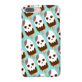 Skull Ice Cream Pattern by Coffee Man (skull,dead,brain,summer,vacation,spring break,melted,food,ice cream,fun,funny)