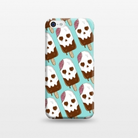 iPhone 5C  Skull Ice Cream Pattern by Coffee Man (skull,dead,brain,summer,vacation,spring break,melted,food,ice cream,fun,funny)