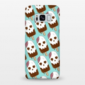 Galaxy S8+  Skull Ice Cream Pattern by Coffee Man (skull,dead,brain,summer,vacation,spring break,melted,food,ice cream,fun,funny)