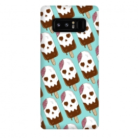 Galaxy Note 8  Skull Ice Cream Pattern by Coffee Man (skull,dead,brain,summer,vacation,spring break,melted,food,ice cream,fun,funny)