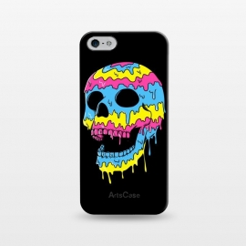 iPhone 5/5E/5s  Melted Skull by Coffee Man (skull,dead,evil,colorful,colors,bond,pop,pop art,brilliant,melted,emo,punk)