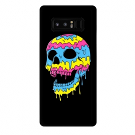Galaxy Note 8  Melted Skull by Coffee Man (skull,dead,evil,colorful,colors,bond,pop,pop art,brilliant,melted,emo,punk)
