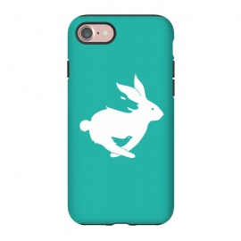 iPhone 8/7  Run Rabbit Green by Coffee Man (rabbit,wolf,bird,animal,animals,pet,pets,creative,negative space,fun,funny,wild,animal lover)