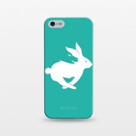 iPhone 5/5E/5s  Run Rabbit Green by Coffee Man