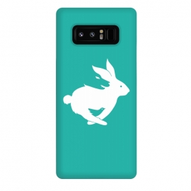 Galaxy Note 8  Run Rabbit Green by Coffee Man (rabbit,wolf,bird,animal,animals,pet,pets,creative,negative space,fun,funny,wild,animal lover)