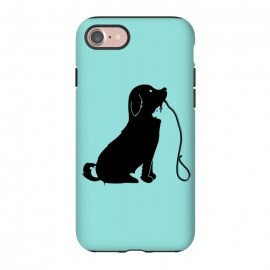 iPhone 8/7  Animals green by Coffee Man (dog,cat,bird,mouse,fun,funny,animal,animals,negative space,cute,adorable,animal lover,puppy)