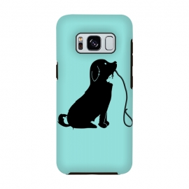 Galaxy S8  Animals green by Coffee Man (dog,cat,bird,mouse,fun,funny,animal,animals,negative space,cute,adorable,animal lover,puppy)