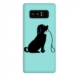 Galaxy Note 8  Animals green by Coffee Man (dog,cat,bird,mouse,fun,funny,animal,animals,negative space,cute,adorable,animal lover,puppy)