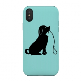 iPhone Xs / X  Animals green by Coffee Man (dog,cat,bird,mouse,fun,funny,animal,animals,negative space,cute,adorable,animal lover,puppy)