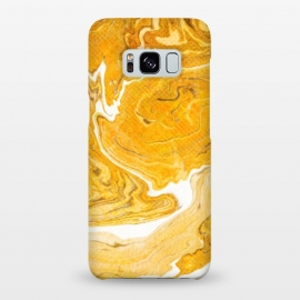 Galaxy S8+  Snake Skin Marble by Uma Prabhakar Gokhale (graphic design, digital manipulation, snake, yellow, earthy, abstract, wood, nature, minimal, white, wooden)