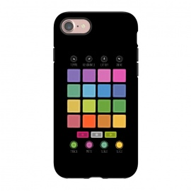 iPhone 8/7  Dj Electronic Music Mixer by Dellán (edm,electronic dance music,electronica,dj,deejay,trance,rave,gamer,hi tech,techno music)