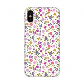 iPhone X  Small Flower by Susanna Nousiainen (floral,smallflower,flowerprint,smallscale)
