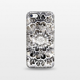 iPhone 5C  Gray mandala by Susanna Nousiainen