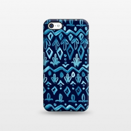 iPhone 5C  Mya Watercolor - Blue by Heather Dutton