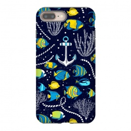 iPhone 8/7 plus  Deep Blue Sea - Navy Blue by Heather Dutton