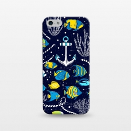 iPhone 5/5E/5s  Deep Blue Sea - Navy Blue by Heather Dutton