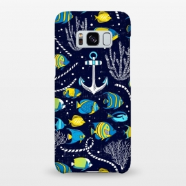 Galaxy S8+  Deep Blue Sea - Navy Blue by Heather Dutton