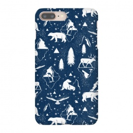 iPhone 8/7 plus  Arctic Circle - Navy Blue by Heather Dutton
