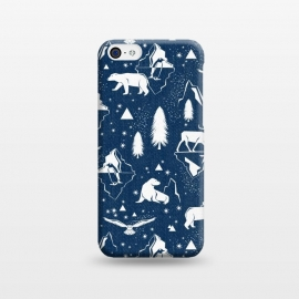 iPhone 5C  Arctic Circle - Navy Blue by Heather Dutton