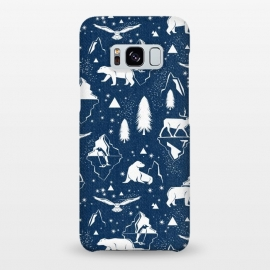 Galaxy S8+  Arctic Circle - Navy Blue by Heather Dutton