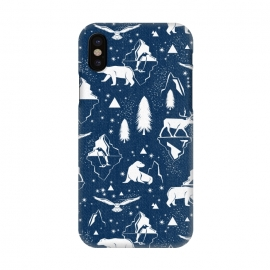 iPhone X  Arctic Circle - Navy Blue by Heather Dutton