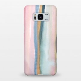 Galaxy S8+  Watercolor stripe by Susanna Nousiainen