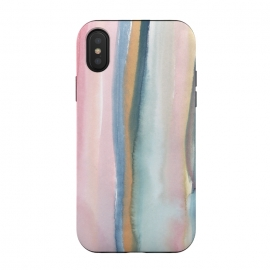 iPhone X  Watercolor stripe by Susanna Nousiainen (stripe,watercolor,painting)