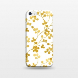 Golden Vines by Uma Prabhakar Gokhale (graphic, pattern, gold, faux gold, golden, exotic, nature, botanical, vines, leaves, floral)