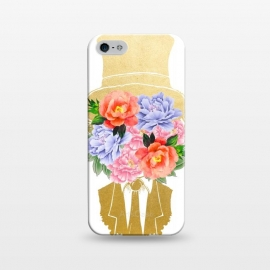 iPhone 5/5E/5s  The Optimist by Uma Prabhakar Gokhale (graphic, acrylic, watercolor, concept, conceptual, magic, hat, floral, abstract, gentleman, nature, exotic, gold, golden, optimist, optimism, hope, happy, joy)