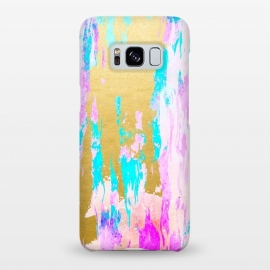 Galaxy S8+  Meraki by Uma Prabhakar Gokhale (acrylic, watercolor, pattern, pink, blue, teal, gold, golden, shimmer, shine, baby pink, blush)