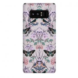 Galaxy Note 8  Floral Fantasy Flip by Zala Farah (butterfly,insects,birds,nature,animal,collage,botanic,boho,bohemian,floral,floral collage,floral print,flower,flowers,flower art,floral collage print,pattern,abstract nature,tropical,exotic,zala farah,zala02creations)