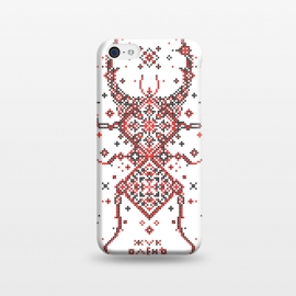 iPhone 5C  Stag Beetle Ornament by Sitchko Igor (Ethno, Ukraine, Embroidery, Ornament, Geometry, Vyshyvanka, National, Symbol, Series, Бродівське письмо, talisman, minimal, geometry, pattern, Traditional)