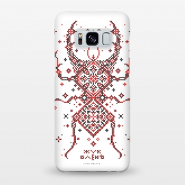 Galaxy S8+  Stag Beetle Ornament by Sitchko Igor (Ethno, Ukraine, Embroidery, Ornament, Geometry, Vyshyvanka, National, Symbol, Series, Бродівське письмо, talisman, minimal, geometry, pattern, Traditional)