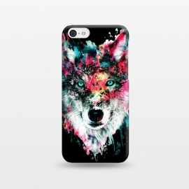 iPhone 5C  Wolf by Riza Peker (wolves,wild,animals,wolf,watercolor)