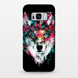 Galaxy S8+  Wolf by Riza Peker (wolves,wild,animals,wolf,watercolor)
