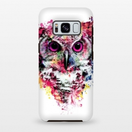 Galaxy S8+  Owl by Riza Peker (owl,colorful,watercolor,art)