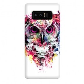 Galaxy Note 8  Owl by Riza Peker (owl,colorful,watercolor,art)
