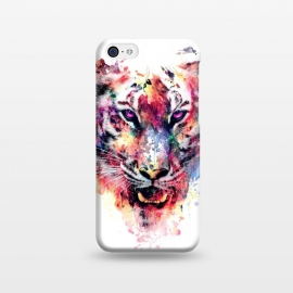 iPhone 5C  Tiger by Riza Peker (watercolor,wild,animals,colorful)