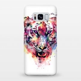 Galaxy S8+  Tiger by Riza Peker (watercolor,wild,animals,colorful)