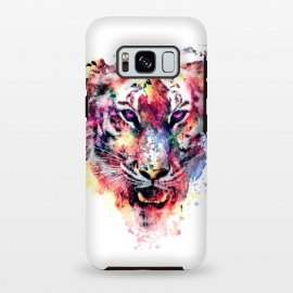Galaxy S8 plus  Tiger by  (watercolor,wild,animals,colorful)