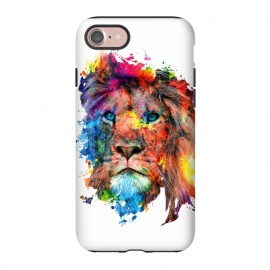 iPhone 8/7  Lion by Riza Peker (watercolor,wild,animals,colorful)