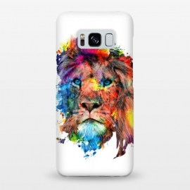 Galaxy S8+  Lion by Riza Peker (watercolor,wild,animals,colorful)