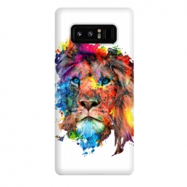 Galaxy Note 8  Lion by Riza Peker (watercolor,wild,animals,colorful)