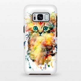 Galaxy S8+  Kitten by Riza Peker (watercolor,cat,cats,art)