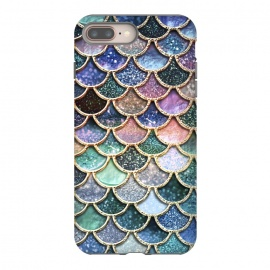 iPhone 8/7 plus  Multicolor Metal Mermaid Scales by Utart