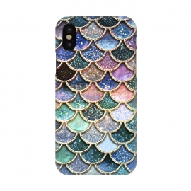 iPhone X  Multicolor Metal Mermaid Scales by Utart
